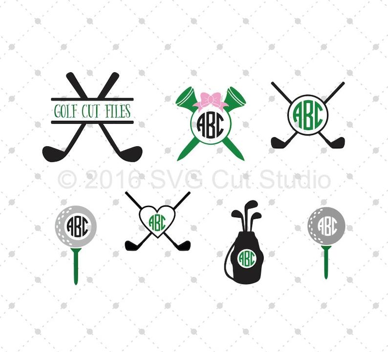 Download Golf SVG Cut Files Golf Monogram Frame SVG Cut Files for ...
