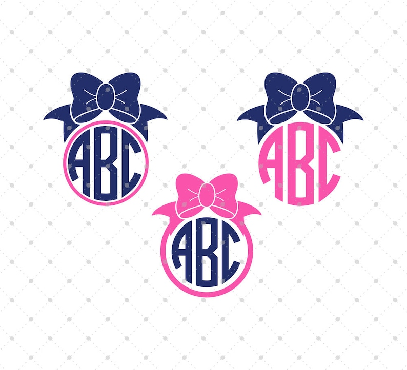 Download Bow Monogram SVG Cut files Bow svg svg files for Cricut | Etsy