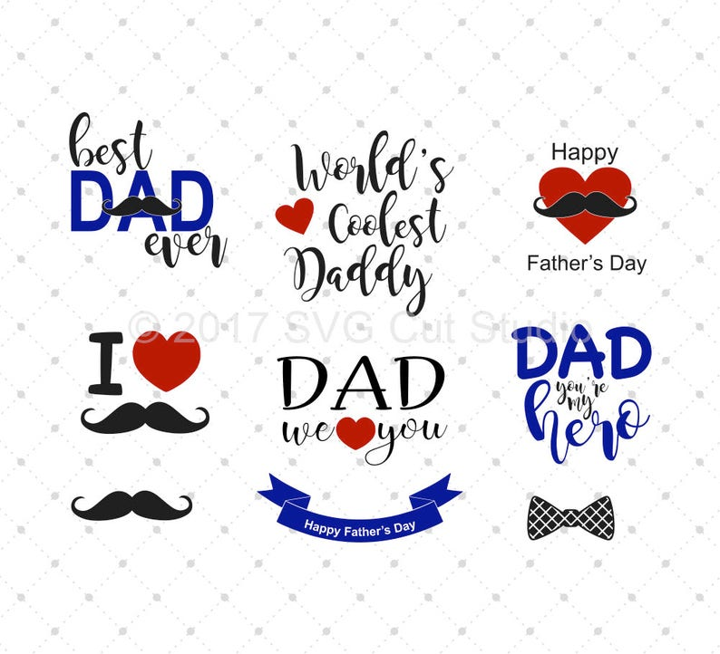 43cae9a0 Fathers Day svg Dad svg Best Dad ever svg Mustache svg Happy | Etsy