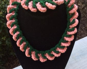 Matching necklace and bracelet set