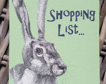 Hare Shopping List  - Magnetic Notepad