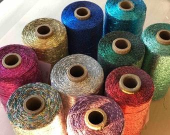 Bling - Thin Metallic Yarn (use with another yarn or fiber)