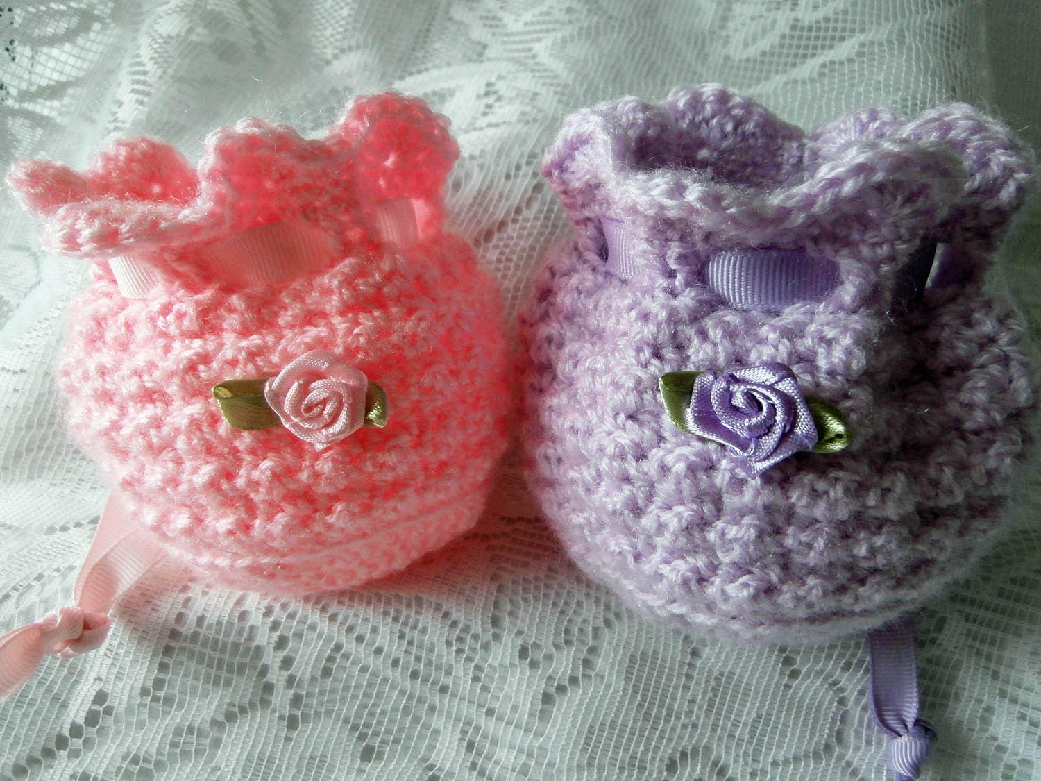 Knitted Wedding Gifts: Crochet Gift Bags Knit Wedding Party Favour Favor Pouch
