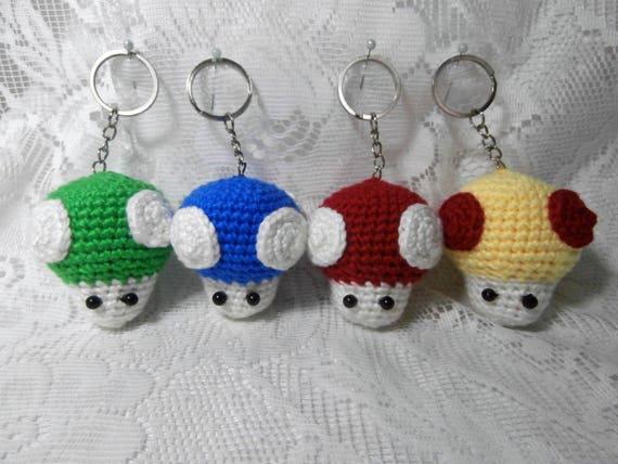 Free Crochet Keychain Pattern- Ice Cream Cone - thefriendlyredfox.com | 428x570