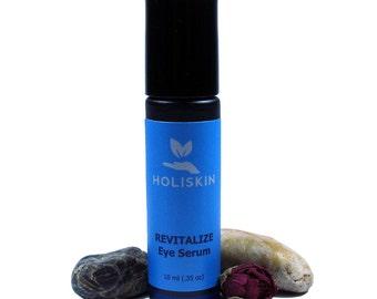 REVITALIZE Eye Serum for Dark Circles Puffy Eyes - Eyelash Serum Eyelash Growth - Beauty Gift - Helichrysum Rosehip Oil Roll On