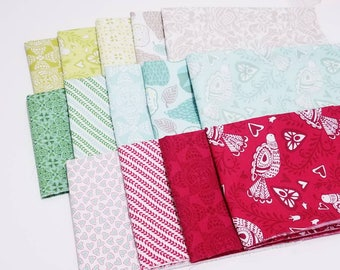 Kate Spain North Woods  -- 14 Fat Quarter Bundle Northwoods Christmas cotton quilting fabric