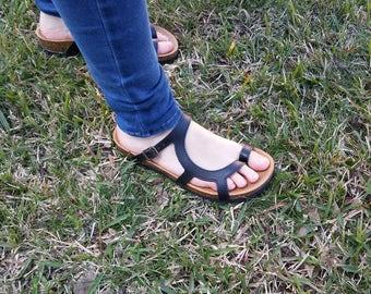 Sale 20%, Free Shipping, vegan Sandals, women sandals, vegan shoes,  Summer Shoes, Straps, vegan flats, low heels sandals, LUNA  BLACK