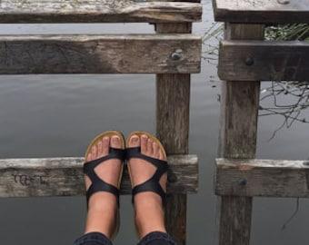 summer sale 20% Off, Free Shipping, sandals, black sandals, flats, shoes , summer shoes, model Piramide black.