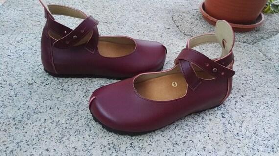 Spedizione gratuita, scarpe vegane, design stretto, scarpe, scarpe basse, vegano Burdeaux colore di CORNELIA.