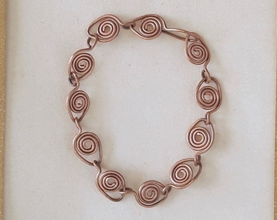 Spiral Links Chain in solid copper