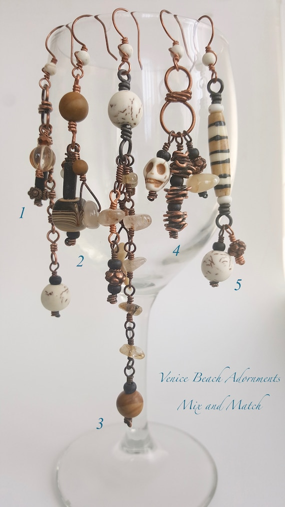 Single Mix 'n Match Earrings:  Urban Neutrals