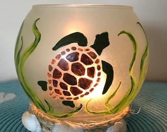 Sea Turtle Candle Holder, Sea Turtle Light, Sea Turtle Decoration, Sea Turtle Bedroom Decor, Sea Turtle Bathroom Decor, Sea Turtle Candle