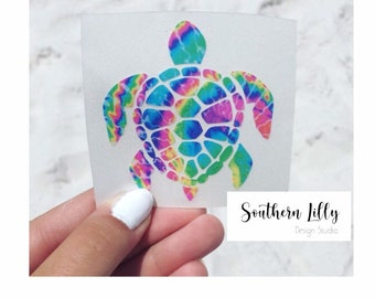 """2.5"""" or 5"""" Turtle Decal - Save the Turtles Decal/Laptop Sticker/Car Sticker"""