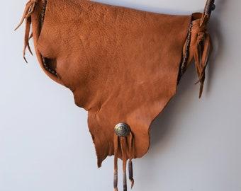 Beaded Deerskin Crossbody Bag
