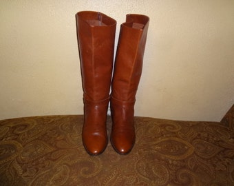 69f4136a20 FINAL CLEARANCE Brown Etienne Aigner Shelby Knee Boots 9.5M