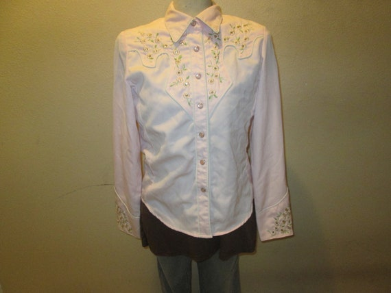 Pink Scully Western Shirt Small