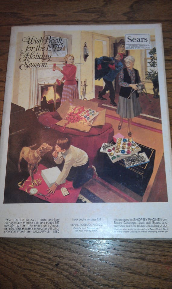 Items similar to 1979 Sears Roebuck and Co  Merry Christmas