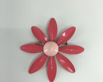 Pink flower pin etsy vintage pink flower pin 1960s mightylinksfo