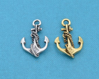 4mm stainless steel Silver Anchor Pendant,Large Clasp,Leather Bracelet Clasp,bright mariner anchor hook charm diy cord leather bracelet