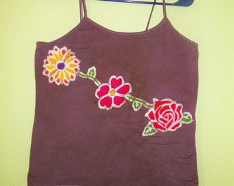 In the Garden Spring batik tank top