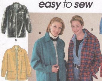 78a94d6c1a6f Shirt Jacket Patterns Misses  Size Large(42-44) XLarge(46-48) Loose-Fitting  Zipper Patch Pocket Jacket Simplicity Sewing Pattern 7315 Uncut