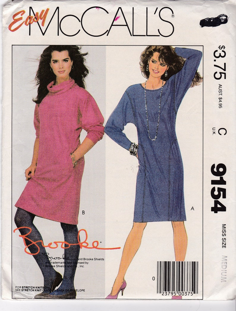 99720c1696a1 Dress Patterns Straight Stretch Knit Pullover Dresses Extended | Etsy