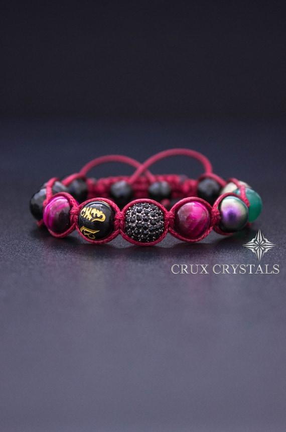 930cfeaf9893 Red Passion Women s Shamballa Bracelet Natural Stone