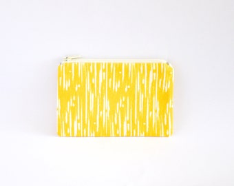 Small Coin Purse, Change Purse, Coin Pouch, Zipper Pouch, Makeup Pouch, Cosmetic Pouch, Card Pouch, Card Holder - Bright Yellow