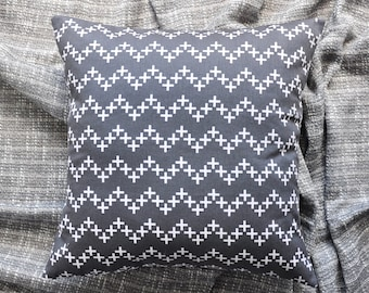 Crosses Cushion Cover, Throw Pillow Cover, Throw Cushion Cover, Decorative Cushion Cover, Decorative Pillow Cover - Grey