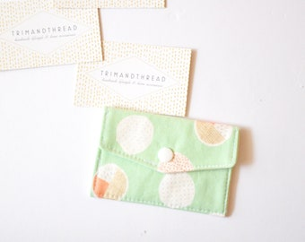 Personalised Gift Card Holder, Card Wallet, Card Holder, Business Card Holder, Fabric Card Holder, Card Pouch - Bubblegum Mint