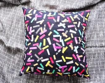 Cushion Cover, Throw Pillow Cover, Throw Cushion Cover, Decorative Cushion Cover, Decorative Pillow Cover - Colourful Confetti Sprinkles