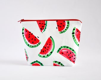 Cosmetic Bag, Zipper Pouch, Makeup Bag, Makeup Pouch, Cosmetic Pouch, Toiletry Bag - Watermelons