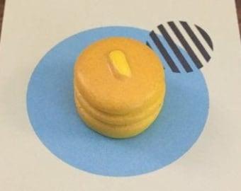T0224 Lifetime Guarantee Pancake Tie Clip Pancakes Tie Bar Flapjack Cufflinks Accessories