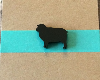 Black Sheep Lapel Pin / Tie Tack - Acrylic