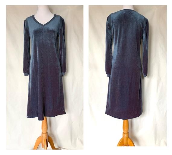 1970s Leslie Fay Sweater Dress