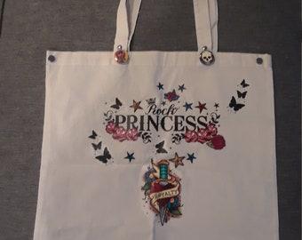 Rock Princess _ Cotton Tote Bag