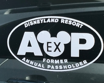 Disneyland EX AP Decal for Cars and Laptops with Free Shipping
