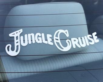 Magic Kingdom Jungle Cruise Logo Decal for Cars, Laptops - Free Shipping