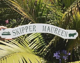 Disney Jungle Cruise Boat Sign -- Personalized