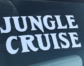 Disneyland Jungle Cruise Logo Decal for Cars, Laptops - Free Shipping