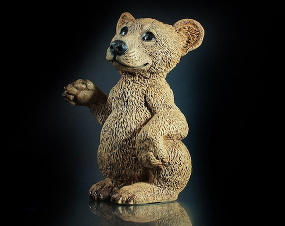 Castagna Bear Figurine, Made in Italy, 1988, Animal Art, Animal Statue, Collectible
