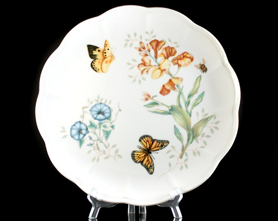 Dinner Plate, Lenox, Butterfly Meadow, Monarch, Floral, Butterflies