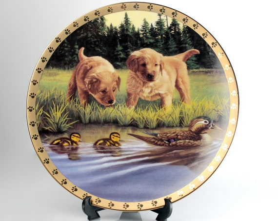 1995 Collectible Plate, Hamilton Collection, Swimming Lessons, Limited Edition, Decorative Plate, Wall Decor