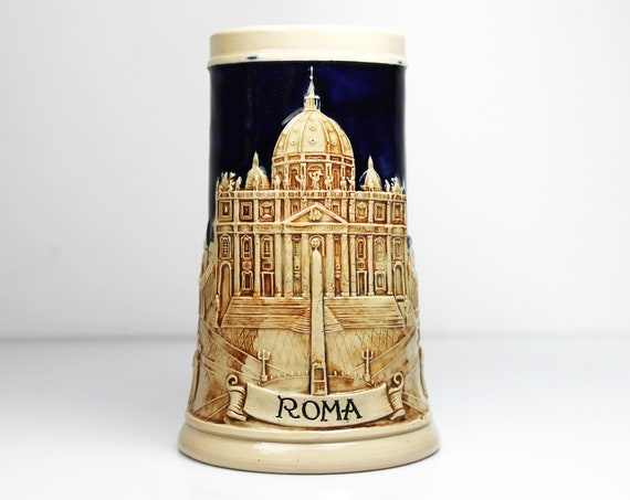 Werner Corzelius Beer Stein, Roma, Made in Germany, Collectible Barware
