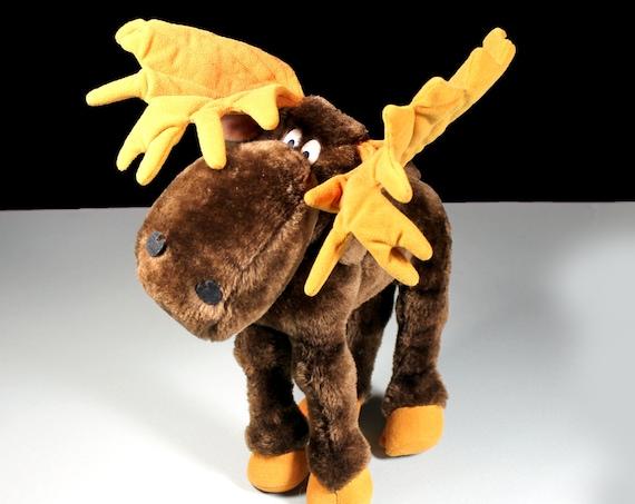 1983 Plush Moose, Chewie Newgett, Dakin and Co.,  Stuffed Animal, 12 Inch, Children's Gift Idea, Moose Lover Gift, Collectible