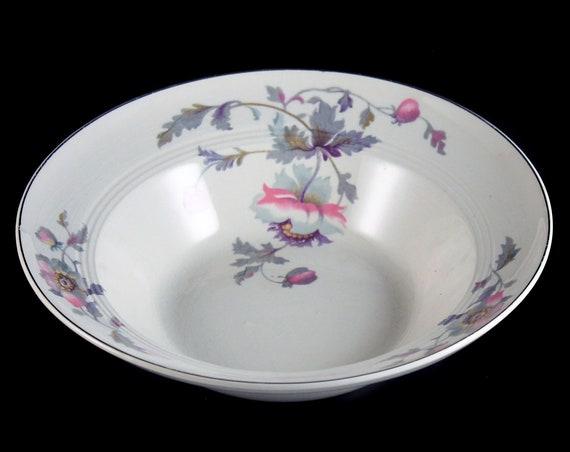 Vegetable Bowl, Symphony by Salem, Platinum Gold, Floral Pattern, Serving Bowl, Porcelain
