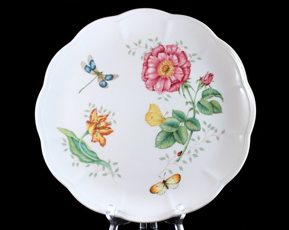 Dinner Plate, Lenox, Butterfly Meadow, Dragonfly, Floral, Butterflies