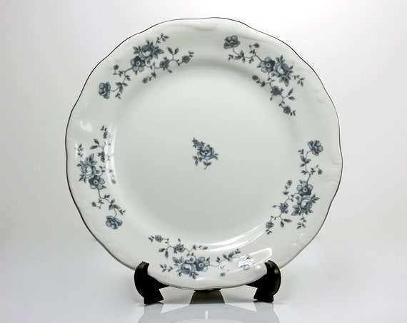 Bread and Butter Plates, Johann Haviland, Blue Garland, Thailand Traditions, Floral Pattern, Set of Four, Fine China, Discontinued
