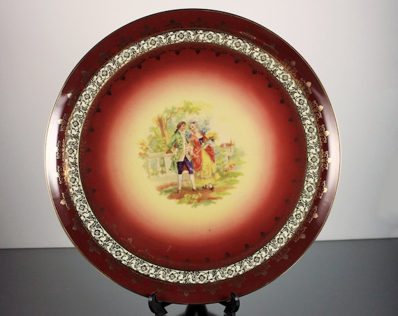 Decorative Plate, Bayreuth, Germany, Display Plate, Portrait Plate, Gold Filigree, Collectible, Display Plate