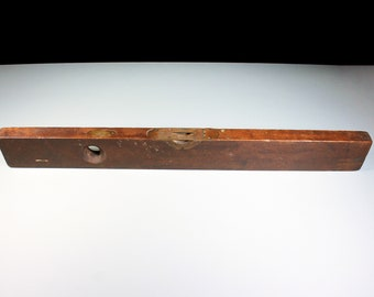 Sargent & Co Carpenter's Level, Antique, Bubble Level, Spirit Level, Wood and Brass Level, 28 Inch, Collectible, Tool